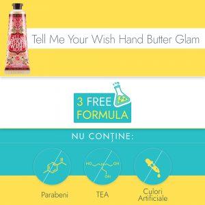 Crema de Maini si Unghii Ariul Tell Me Your Wish Hand Butter Glam, 30g - Poza 2