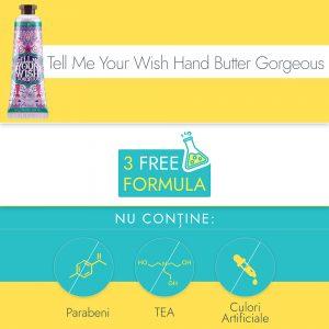 Crema de Maini si Unghii Ariul Tell Me Your Wish Hand Butter Gorgeous, 30ml - Poza 2