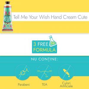 Crema de Maini si Unghii Ariul Tell Me Your Wish Hand Cream Cute, 30g - Poza 2