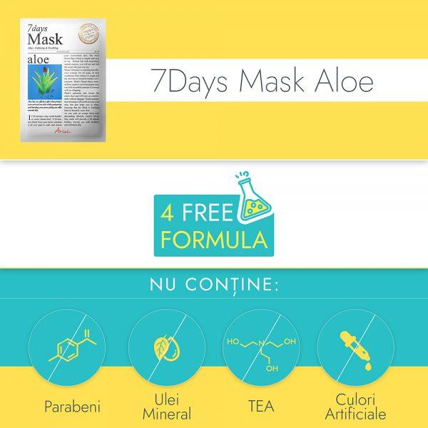 Masca Ariul 7 Days Aloe Vera, 20g - Poza 4