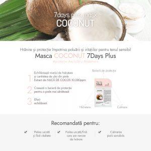 Masca Ariul 7days Plus Nuca de Cocos, 23g - Poza 2