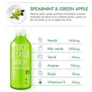 Masca Ariul Juice Menta & Mar Verde, 20g - Poza 2