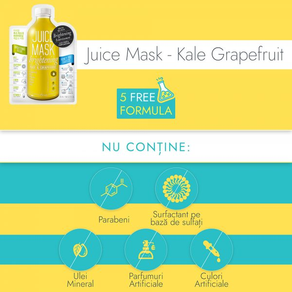 Masca Ariul Juice Varza Kale & Grapefruit, 20g - Poza 3