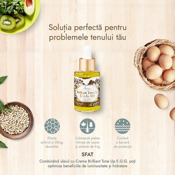 Serum Antirid & Lifting Ariul Brilliant Tone Up E.G.G., 40ml - Poza 2