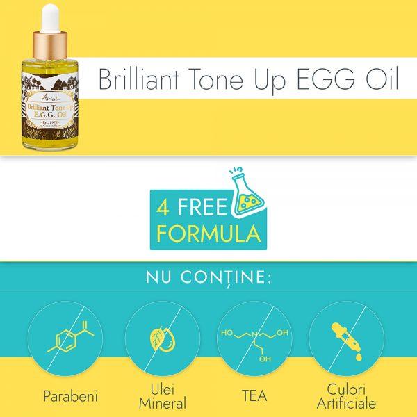 Serum Antirid & Lifting Ariul Brilliant Tone Up E.G.G., 40ml - Poza 4