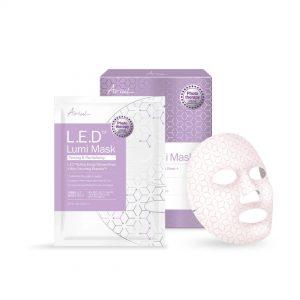 Mască Ariul LED Lumi Mask cu Terapie cu Lumină - Fermitate și Revitalizare Set 18 ml x 5 buc